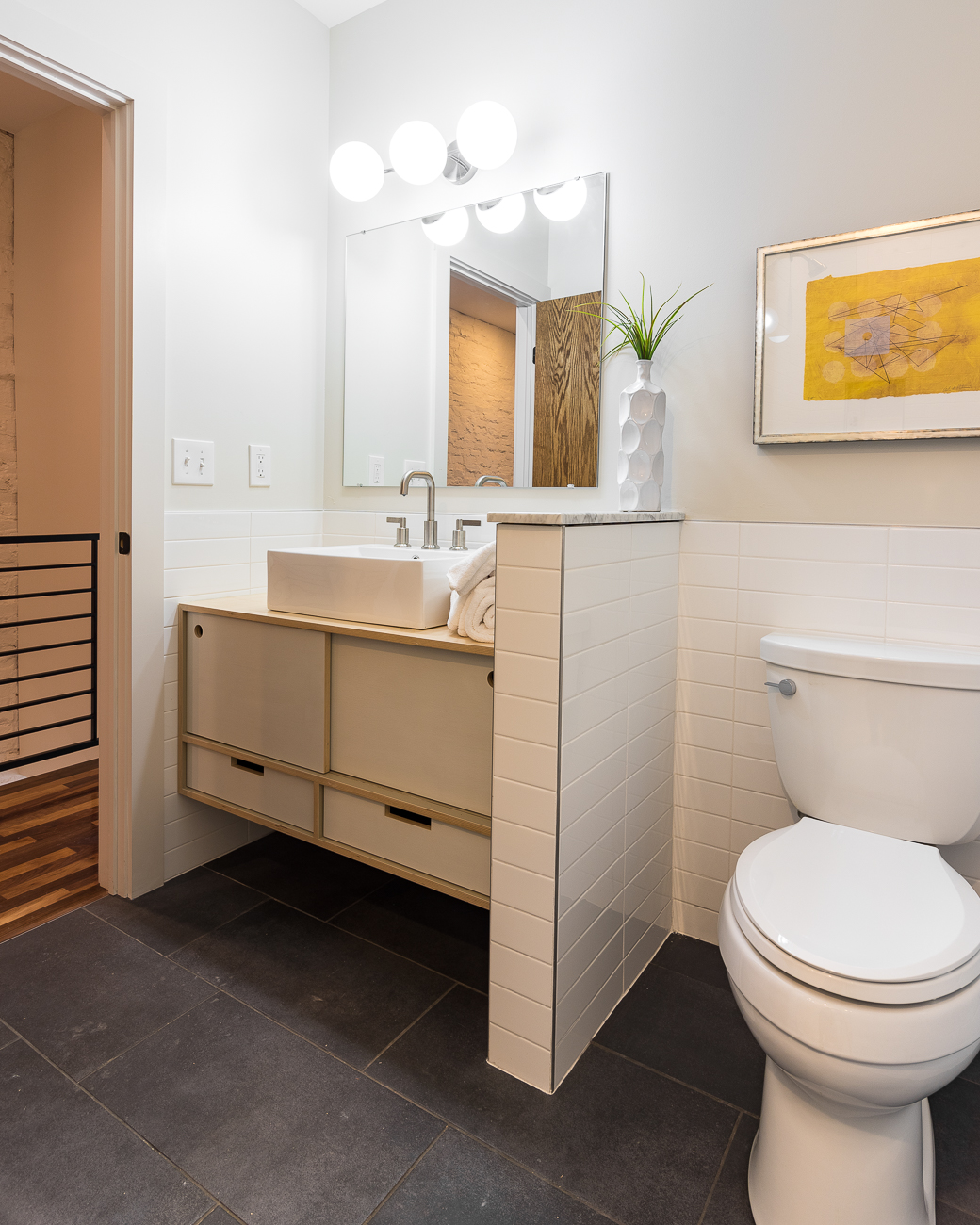 The house features two full and one half bathroom. 1428 Main Street is listed for $489,000 by Michael Chewning and Seth Maney with Coldwell Banker West Shell. / Image: Phil Armstrong, Cincinnati Refined // Published: 2.17.19