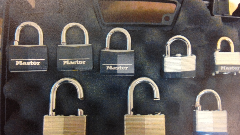 Officials say multiple padlocks were cut and replaced