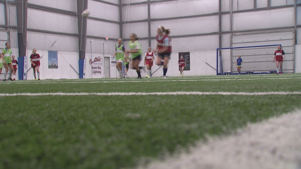 The Green Bay Southwest soccer team practiced at Synergy Field Thursday night.