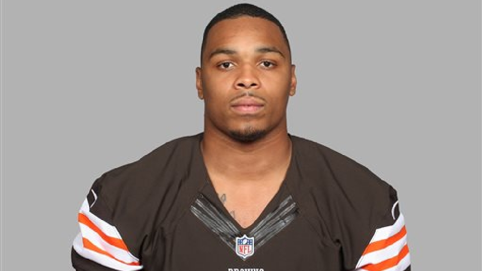 This is a May 20, 2014, file photo showing Chris Kirksey of the Cleveland Browns NFL football team. Browns rookie linebacker Kirksey has shrunk _ incredibly. A glitch in the popular Madden 15 video game has reduced Kirksey from a 6-foot-2, 235-pounder to a 14-inch player, running around on the field among giants. (AP Photo/File)