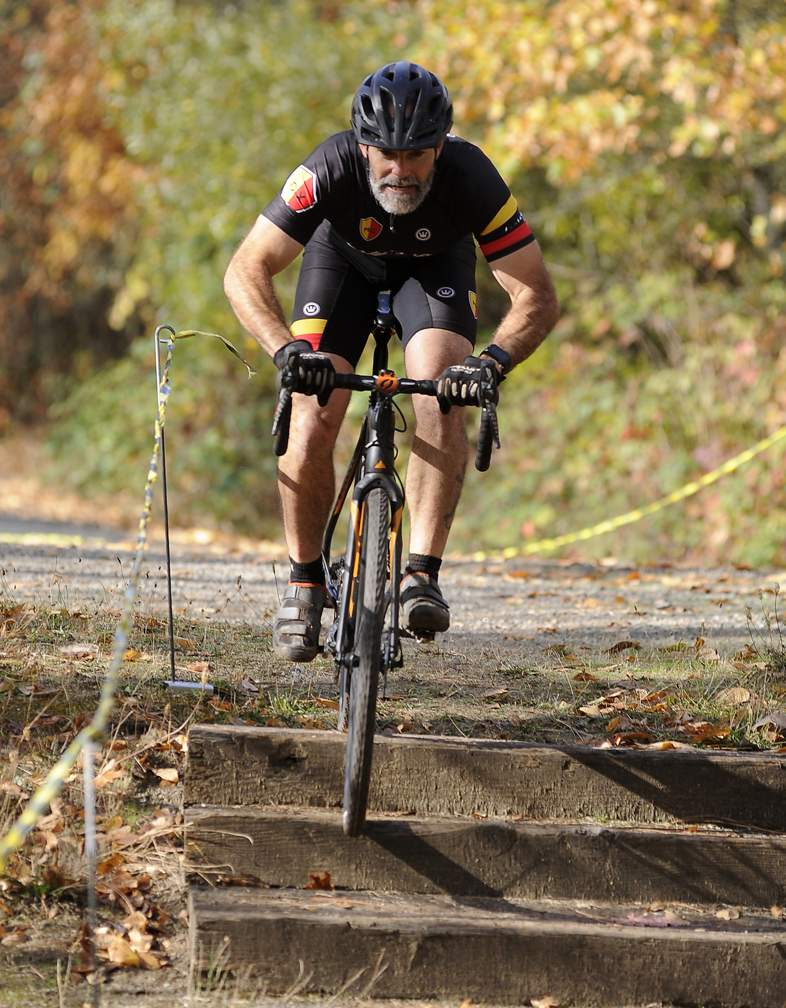 Outlaw Cyclocross Series, event 2 of 5 throughout Northern California and Southern Oregon. Costume race at Tom Pearce Park in Grants Pass 10-28-17. - Andy Atkinson