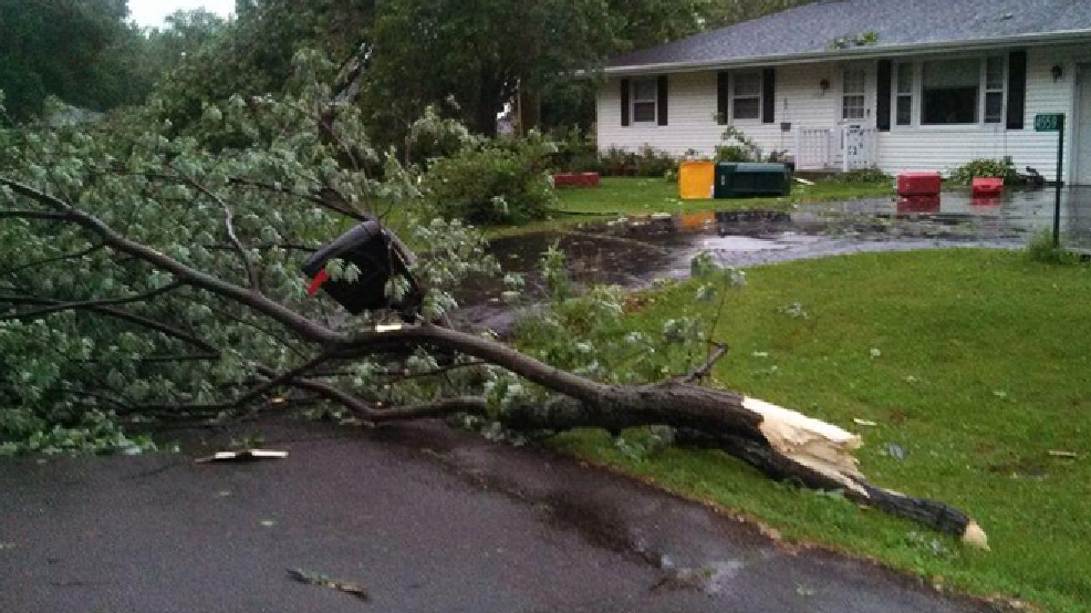 Storm damage in Cottage Grove, June 18, 2014. (WMTV/Jason Rice)