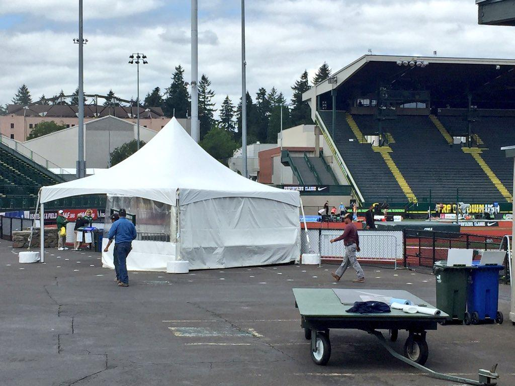 The Prefontaine Classic begins Friday at Hayward Field. It is one of the final meets scheduled before Hayward Field will undergo a major renovation. Photo by Anthony Kustura