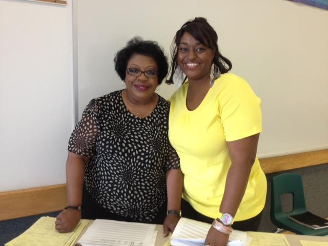 These are the two wonderful ladies who made sure students were heading to the right place!