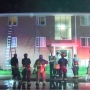 One person severely burned in apartment fire
