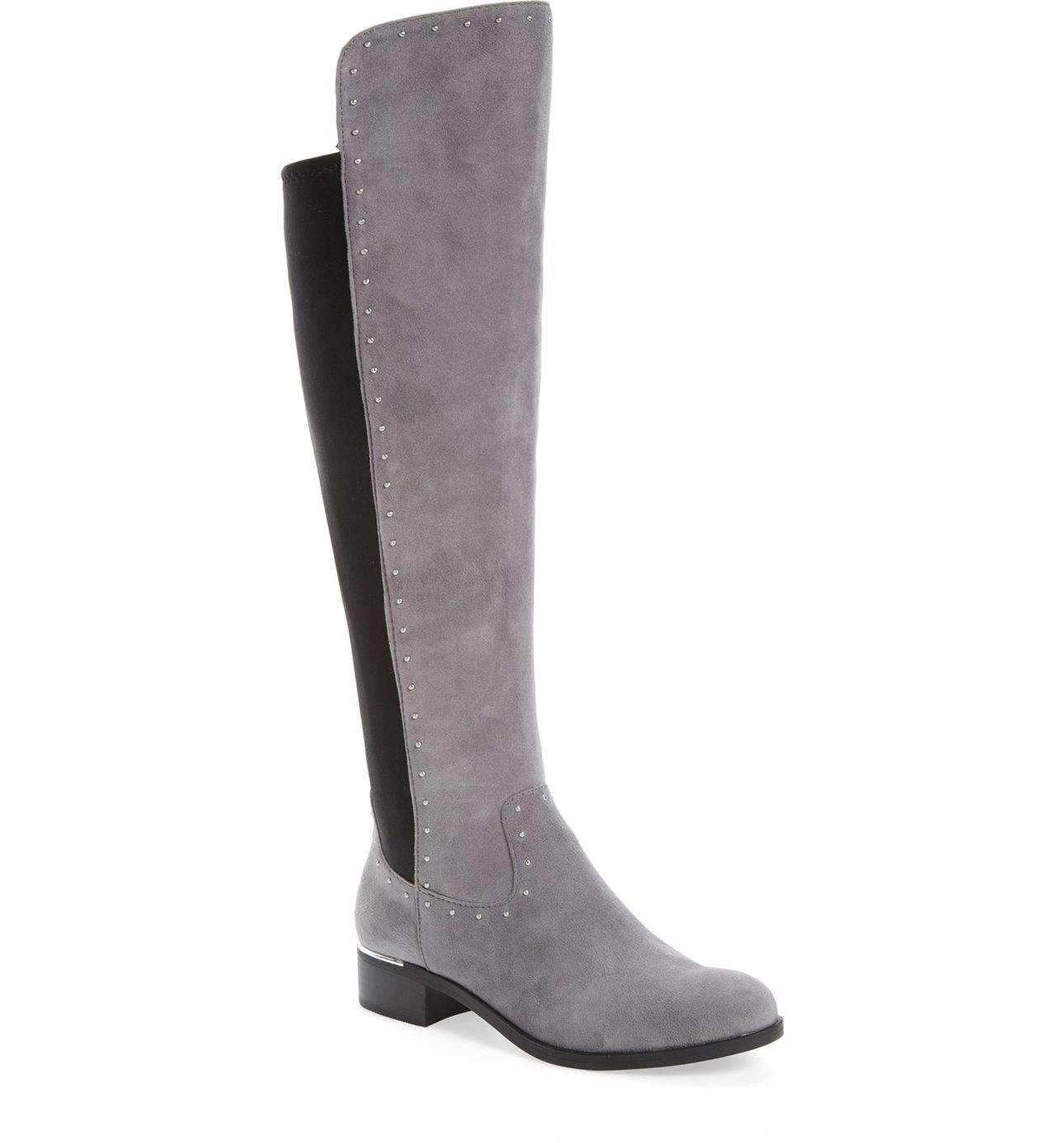 If you are hesitant to try this trend, find inspiration with these Calvin Klein Cynthia Studded Riding Boot ($198.95).  You can actually get away with wearing these boots to work (I swear).  Wear over black tights or leggings, even skinny jeans with a chunky sweater on top.  You'll feel edgy but still look classy.  (Image: Nordstrom)