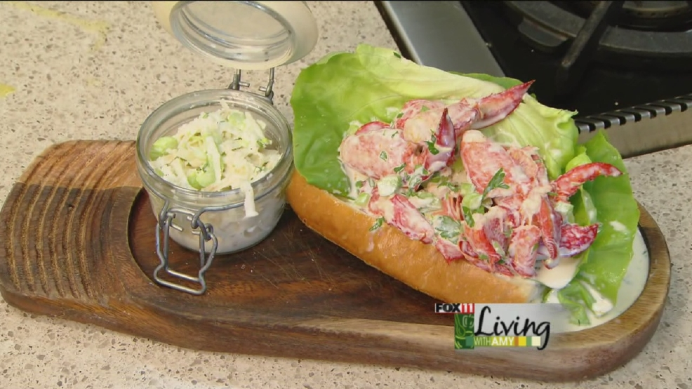 Lobster Roll and Celery Root Slaw