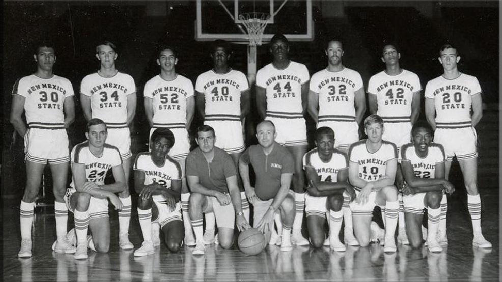 New Mexico State's 1969-70 basketball team that reach the Final Four. (Courtesy New Mexico State University Archives)