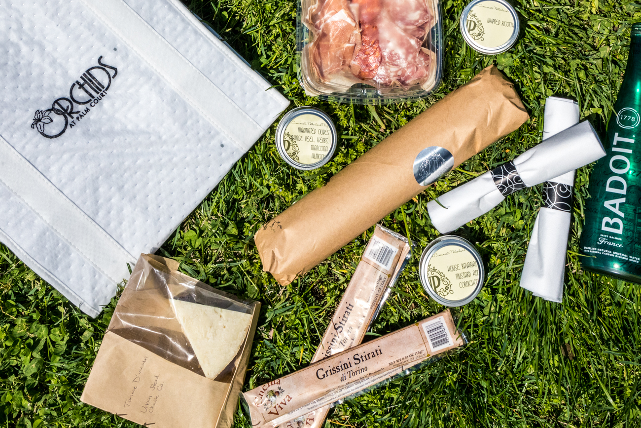 Picnic totes and wine are currently available Tuesday through Saturday from 4 to 7 PM. Orders must be placed by 2 PM for same-day pickup. Call (513) 564-6465 or visit their website (orchidsatpalmcourt.com) to place an order. / Image: Catherine Viox // Published: 5.13.20
