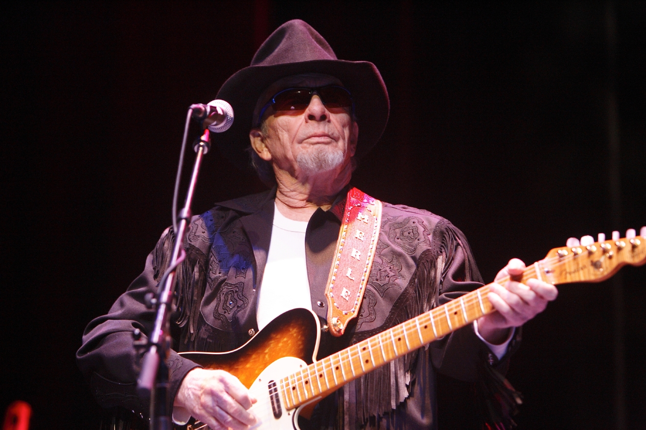 Merle Haggard performs live in concert at the Rosemont Theatre in Rosemont, Ill. on Feb. 21, 2010. (WENN)