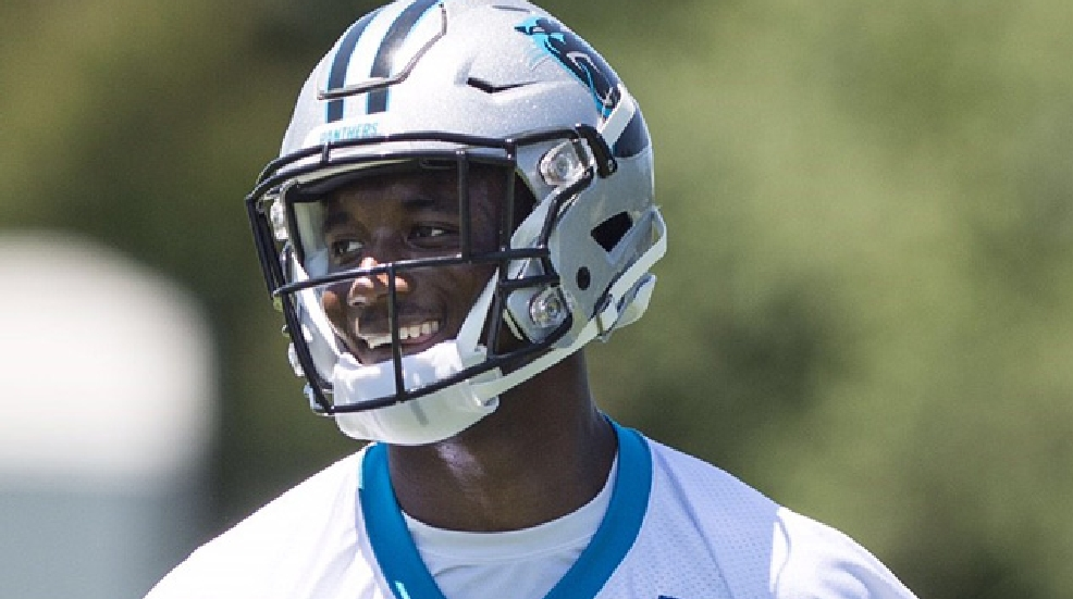 James Bradberry practices during the Carolina Panthers' rookie minicamp earlier this month. (Courtesy Carolina Panthers)
