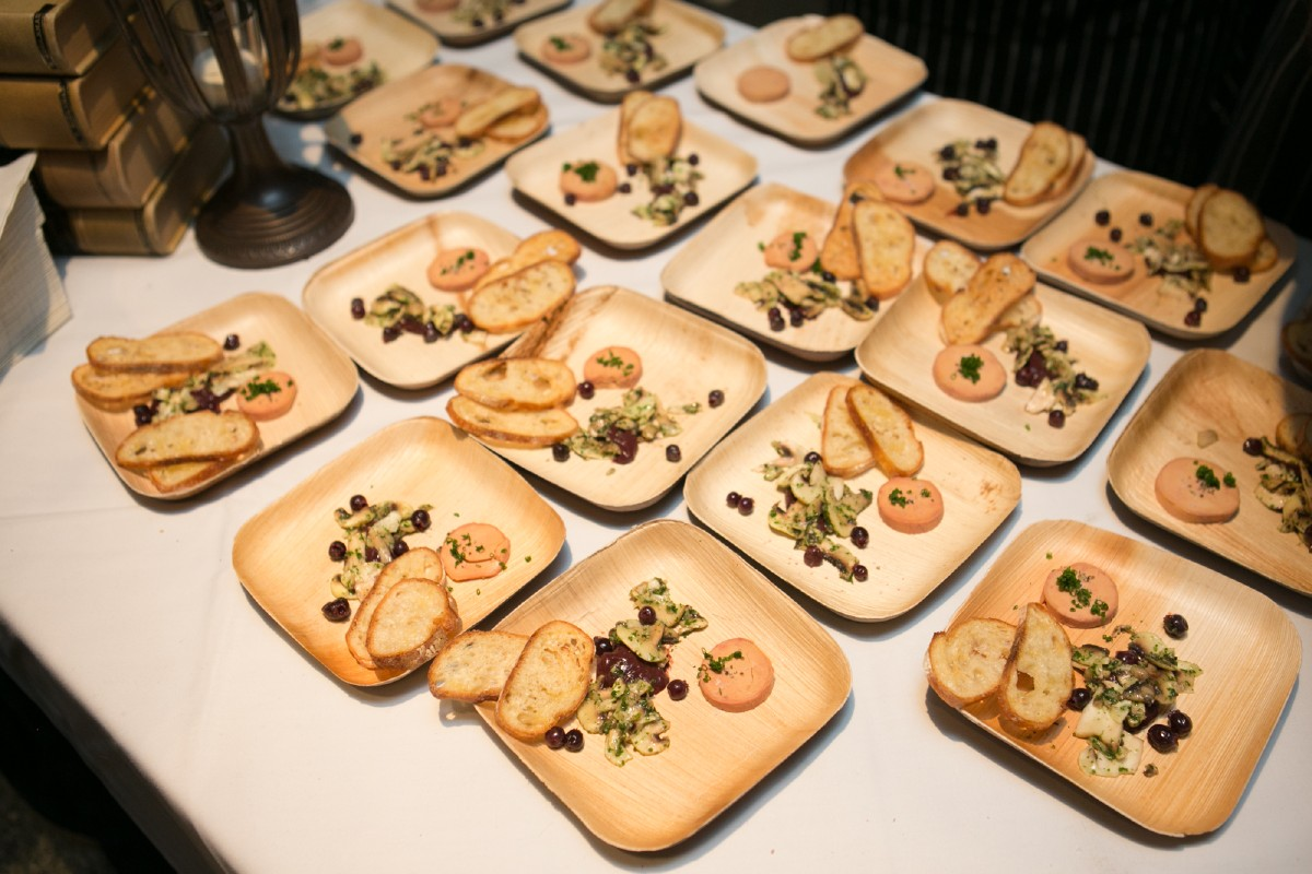 The foie gras torchon with button mushrooms and saskatoons by Cameron Hanin of Tavern Law. (Image: Design StarChefs)