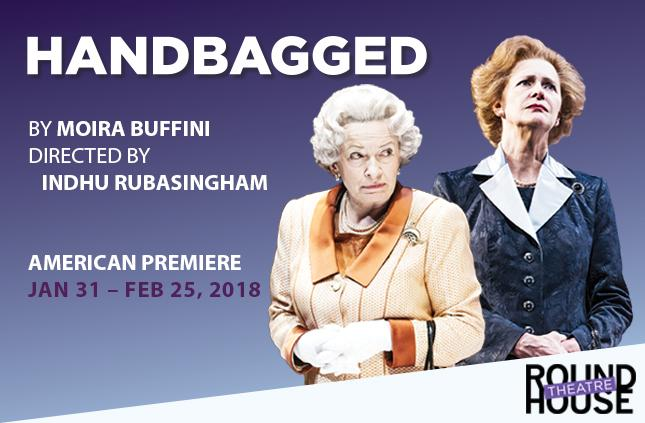 Handbagged at Round House Theatre, Bethesda, MD.{&amp;nbsp;} (Artwork courtesy of Round House Theatre)<p></p>