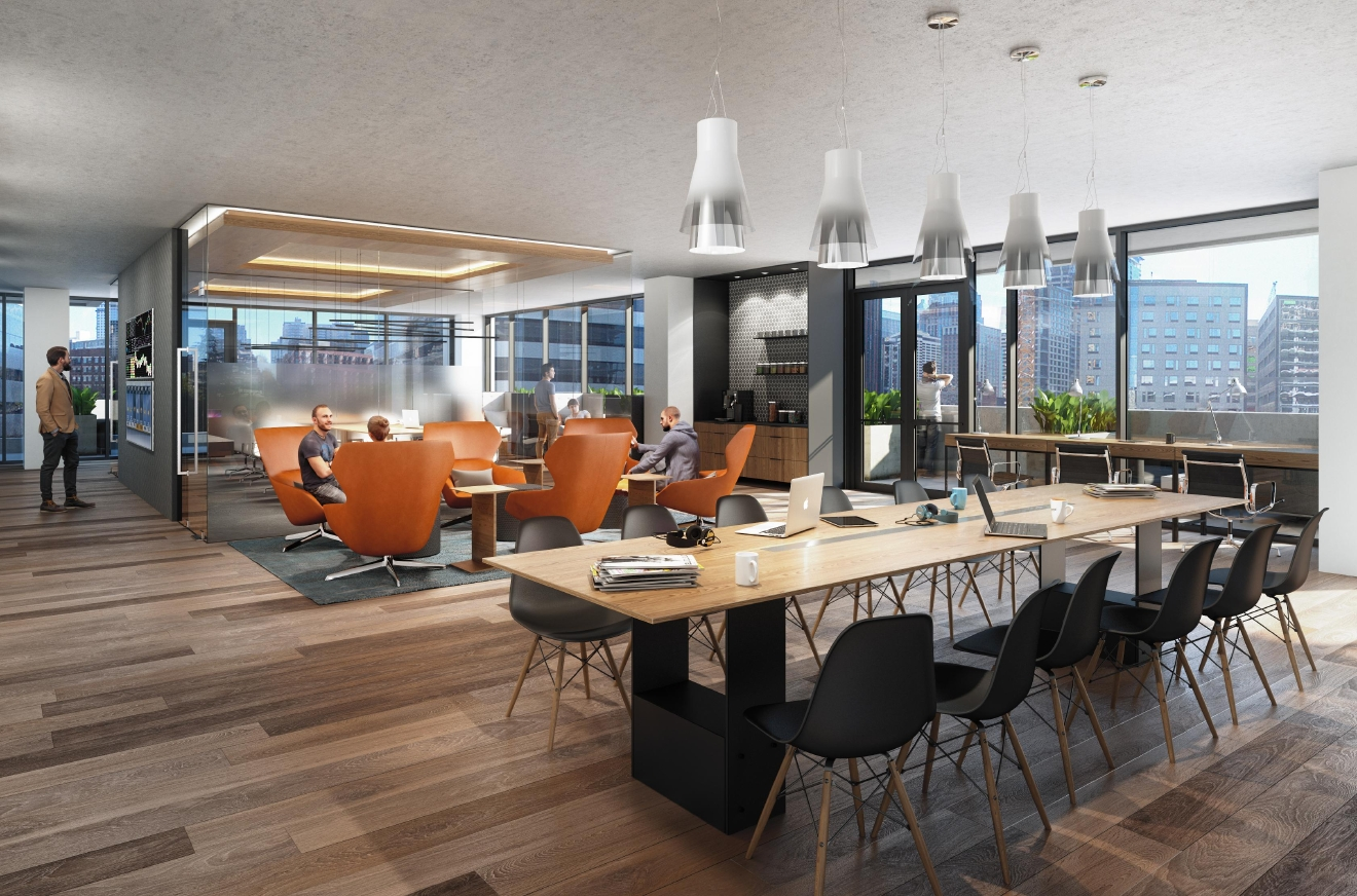 No need for a home office when you live at NEXUS – the plan features a common co-working space. Now that's the ideal commute!