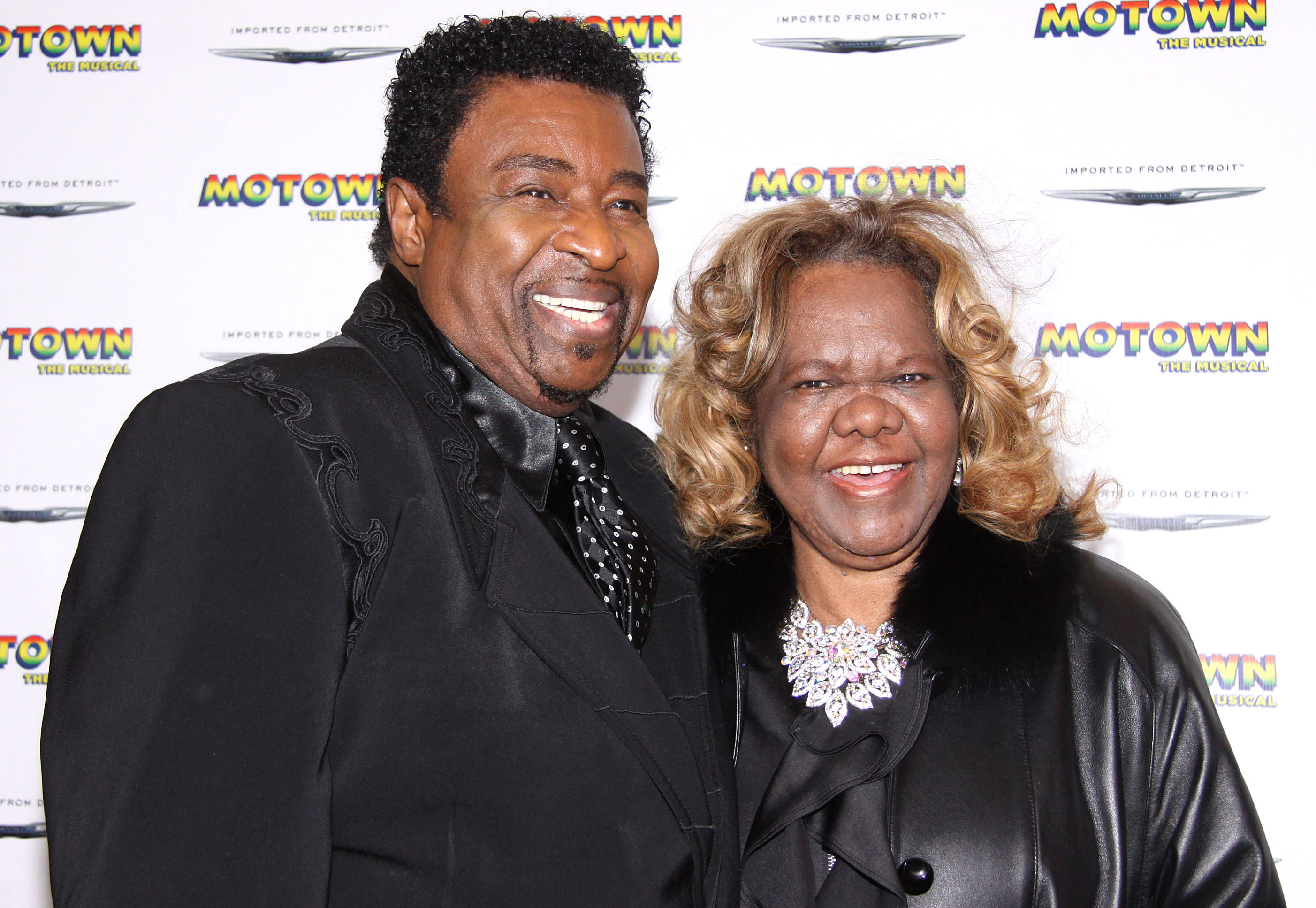 Broadway's Motown: The Musical family night celebration at the Lunt Fontanne Theatre - Arrivals  Featuring: Dennis Edwards, Janie Bradford Where: New York, United States When: 05 Apr 2013 Credit: Joseph Marzullo/WENN.com