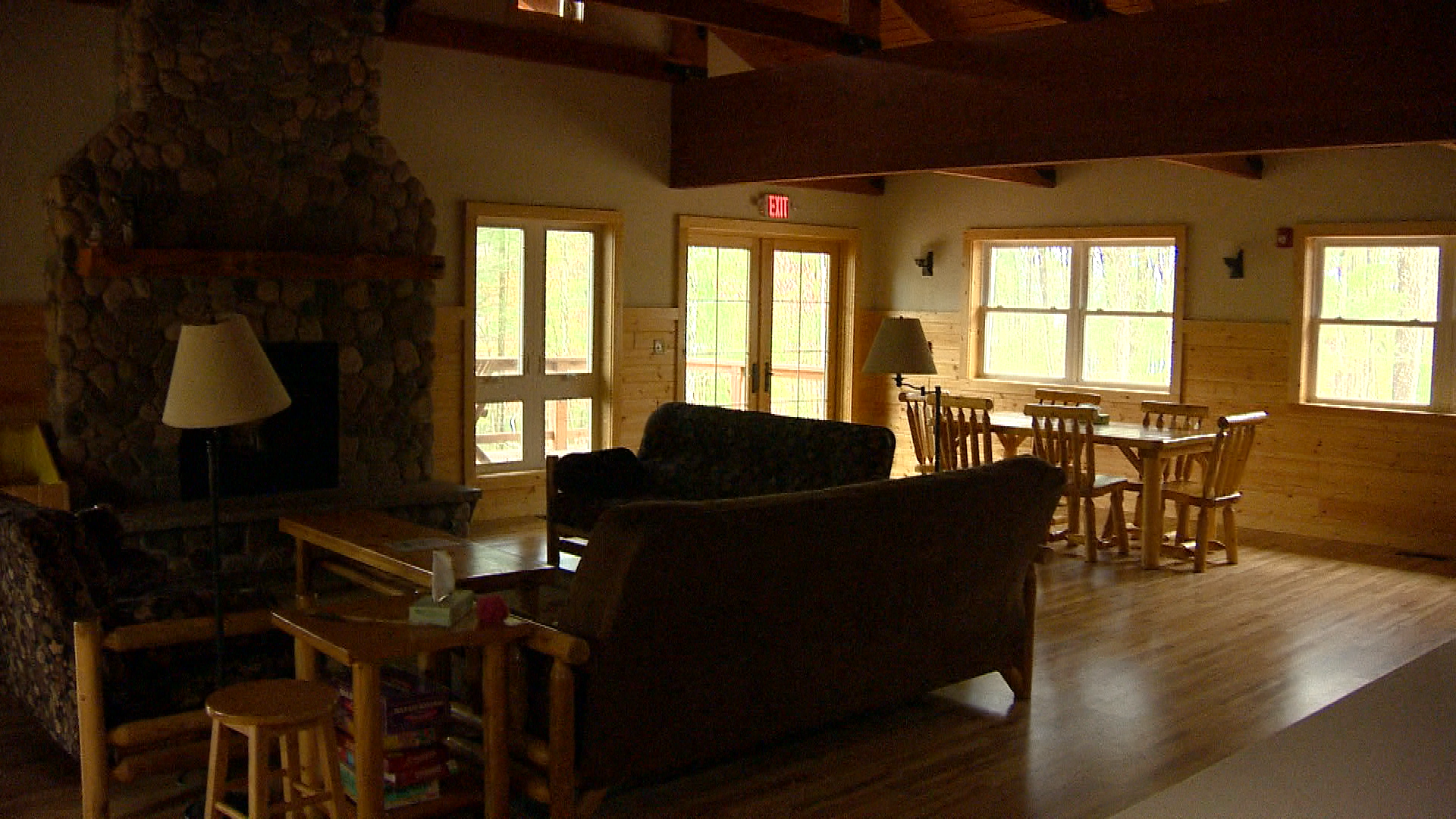 Interior of main lodge at camp (WLUK){&amp;nbsp;}<p></p>