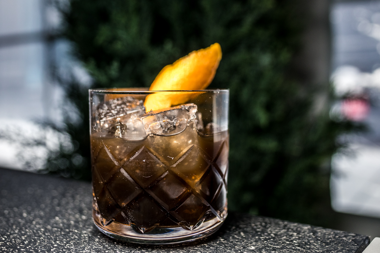 Nocino Old Fashioned: Wild Turkey Rare Breed, nocino, simple syrup, and bitters / Image: Catherine Viox // Published: 12.24.20