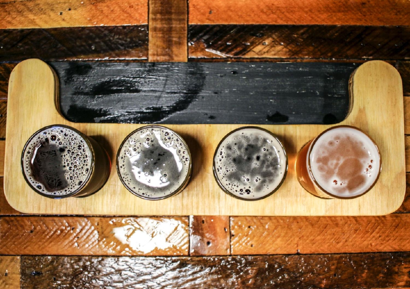 Shorty the Imp  Imperial Stout, Man on the Moo Milk Stout, Centennial Anomaly Black Session Ale, Marrigold Smash Beer Golden Ale / Image: Tommy Zipperstein