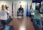 Brown Co. sheriff's officials hold a news conference July 3, 2014, to discuss alleged sexual assault by a man who worked at a school in Green Bay. (WLUK/Don Steffens)