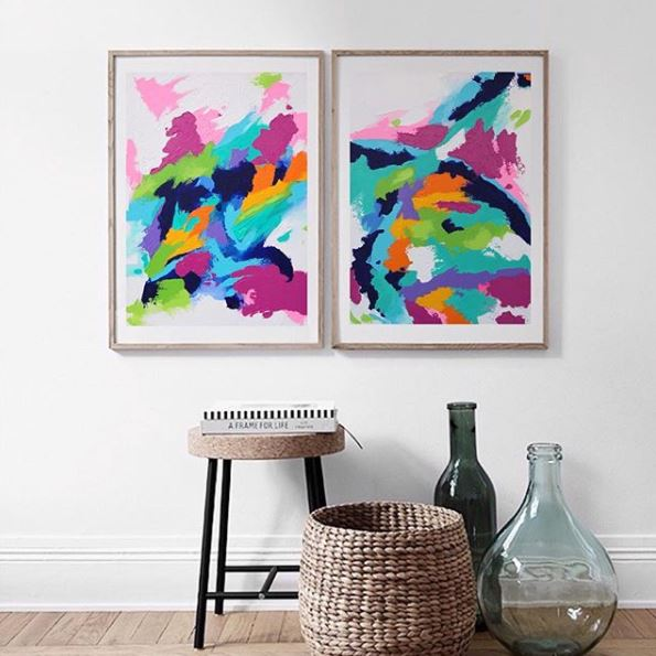 Don't worry though, you can still buy plenty of neat stuff like these vibrant canvases. (Image via @antoniamarieart)