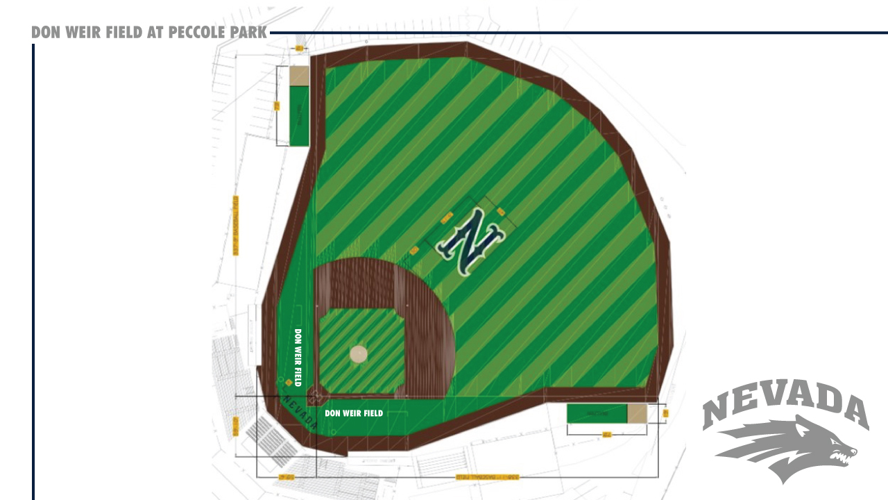 A rendering of Nevada baseball's Don Weir Field at Peccole Park. (Courtesy: UNR Athletics){&amp;nbsp;}<p></p>