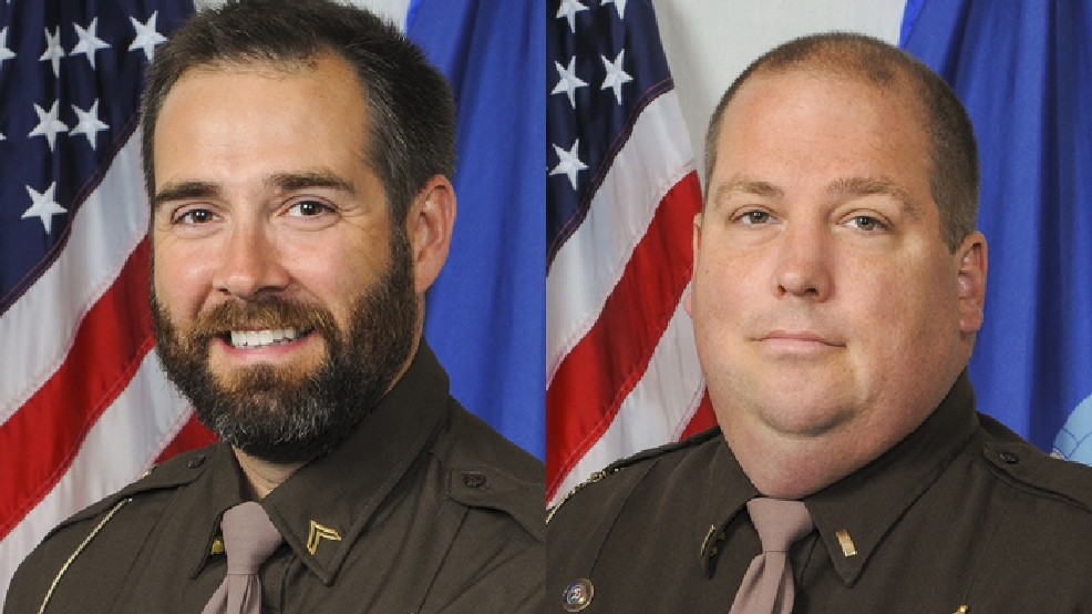 Deputy Roger Finch (left) and Lt. Brian Hayes (Dane Co. Sheriff's Office)
