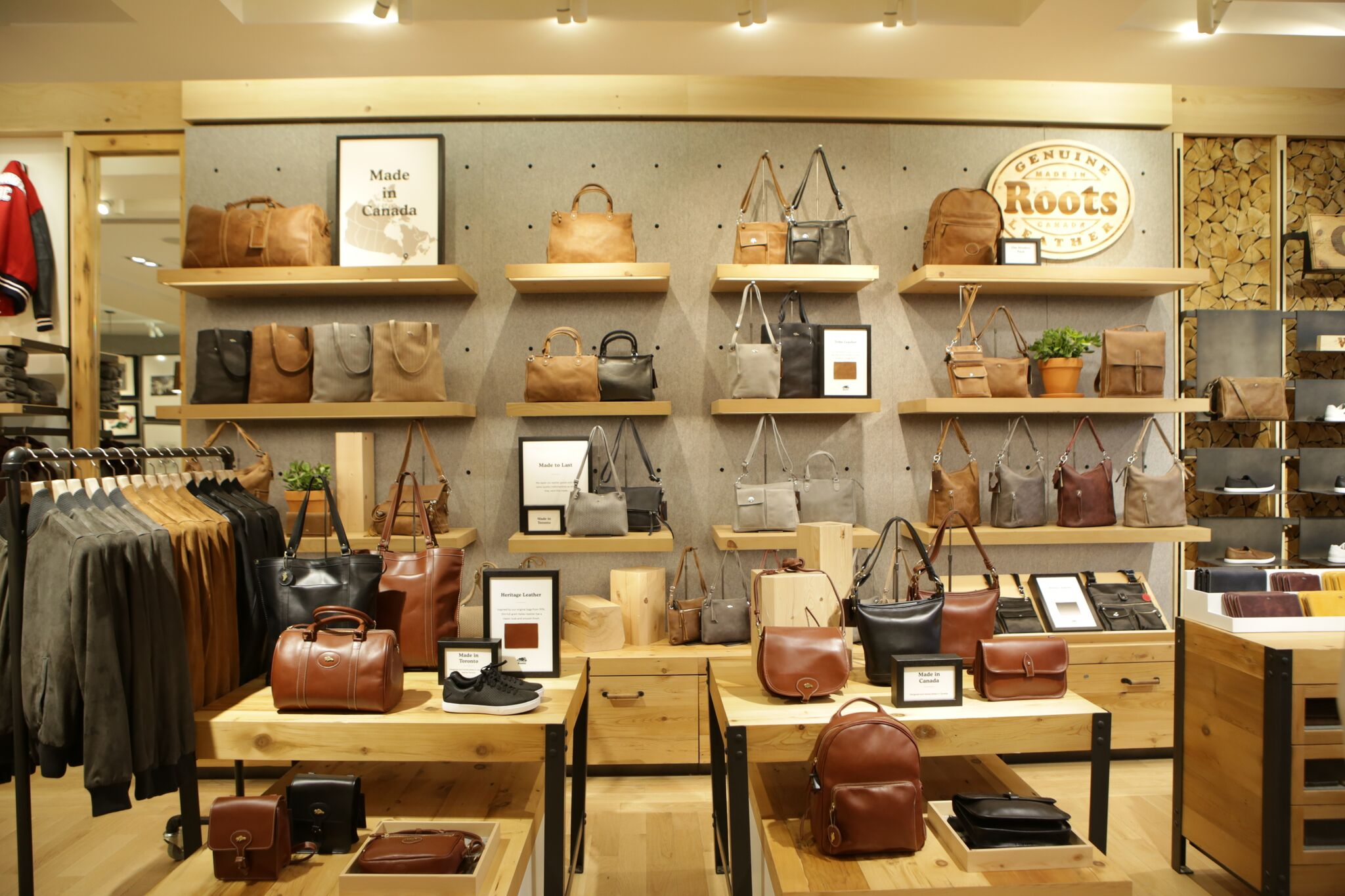 Custom, handmade leather bags, including the top-seller Banff Bag, are just a few reasons why Roots is known worldwide. (Image: Courtesy Roots)