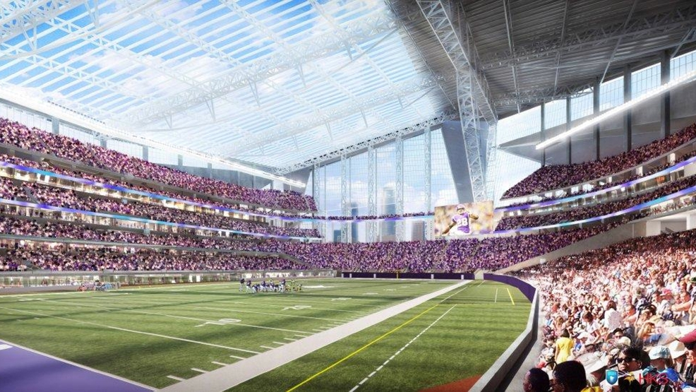 This artist's rendering released on May 13, 2013, by the Minnesota Sports Facilities Authority and the Minnesota Vikings is the new Minnesota Vikings stadium. Minnesota's Supreme Court on Tuesday, Jan. 21, 2014, dismissed a lawsuit challenging the funding plan for a new Vikings football stadium, eliminating a legal obstacle that threatened a last-minute derailment of the project. The lawsuit was filed Jan. 10 by Doug Mann, an activist and former Minneapolis mayoral candidate who argued the stadium funding plan was unconstitutional. The state's highest court disagreed. (AP Photo/HKS Sports and Entertainment Group, File)