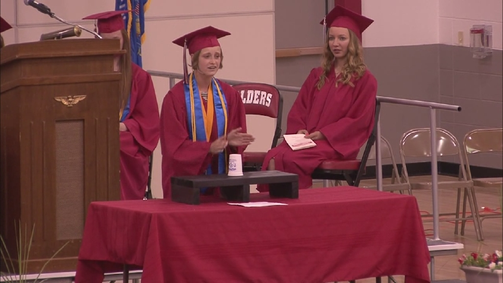 "ONLINE EXTRA: Valedictorian performs ""Cup Song"""