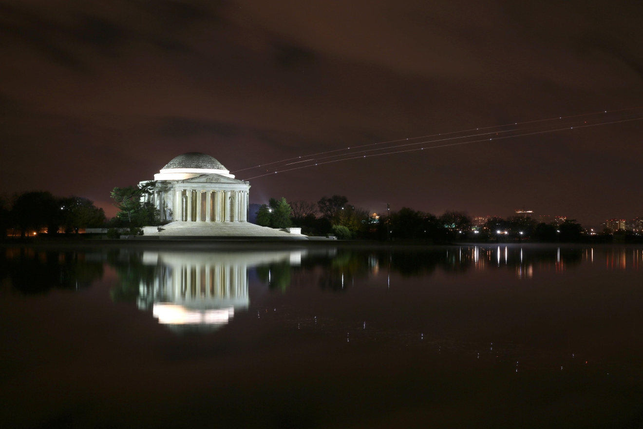 In case all the photos of sparkly rings flooding your Facebook wasn't enough of a clue, it's engagement season - according to WeddingWire, nearly 40% of engagements happen between November and February. So if you've found the right person, here are some of the most spectacular places to propose - or maybe gently suggest them to your significant other. The Jefferson Memorial is fairly empty at night, making it a glowing and intimate venue or an amazing backdrop. (Amanda Andrade-Rhoades/DC Refined)