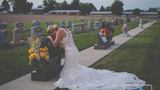 Bride takes wedding photos alone after firefighter fiance killed by alleged drunk driver