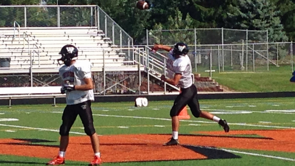 West De Pere quarterback Beau Mommaerts has led West De Pere to a 2-0 record. (Doug Ritchay/WLUK)