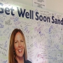 Giant card placed at Nick Tahou's for DA Sandra Doorley