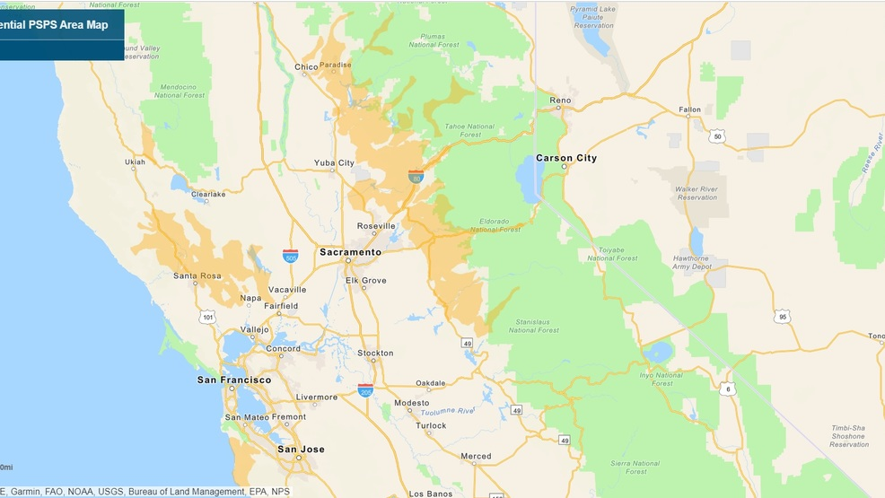 PG&E releases maps of potential power shutoff areas | KRCR on