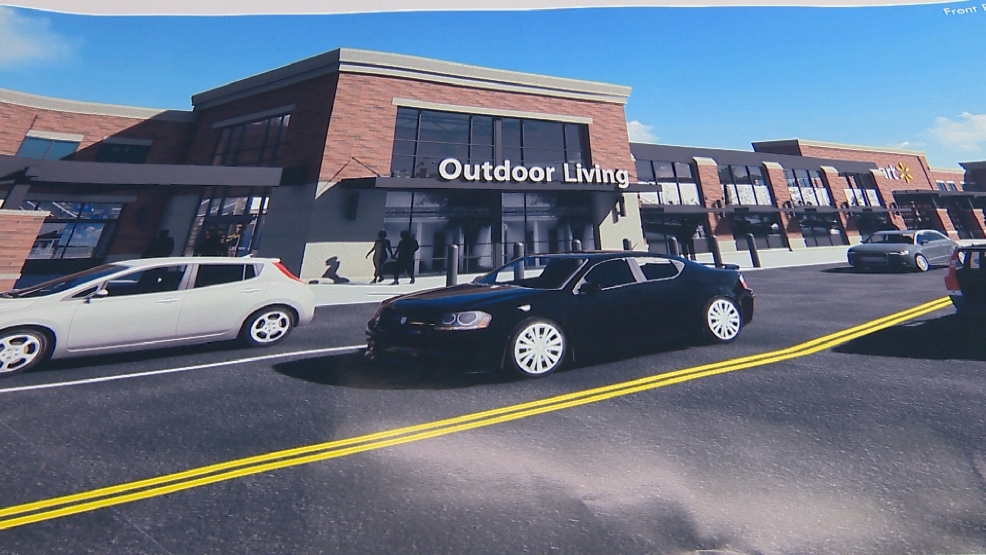 Walmart rednering of downtown Green Bay store proposal