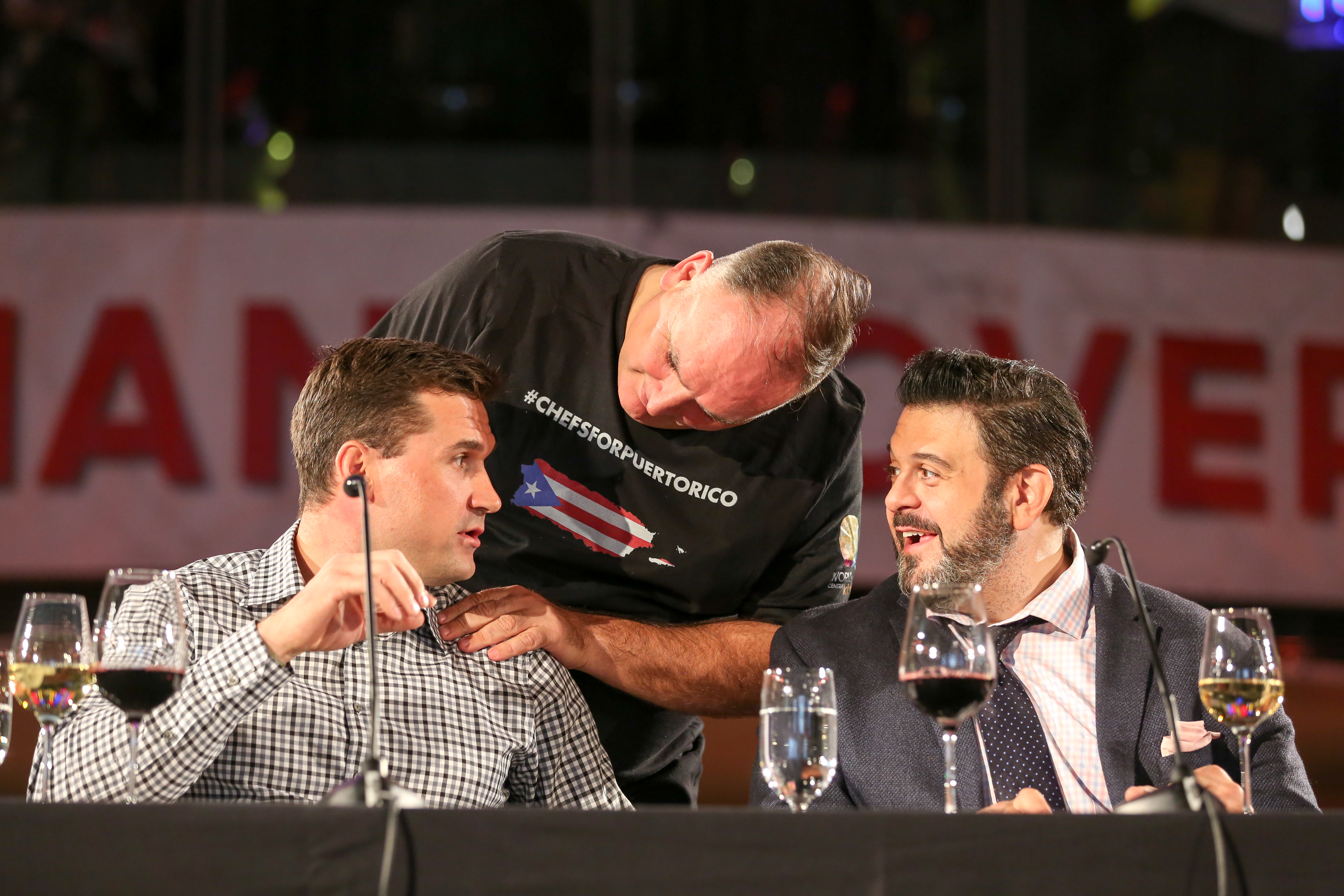 Jose Andres with judges Ryan Zimmerman and Adam Richman. (Amanda Andrade-Rhoades/DC Refined)<p></p>