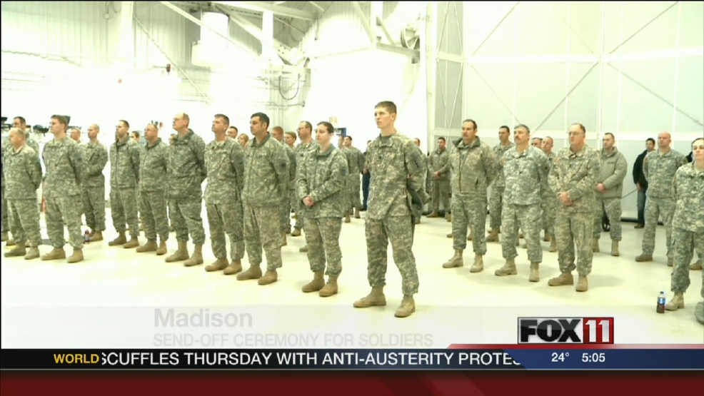 Send-off ceremony for Wisconsin National Guard
