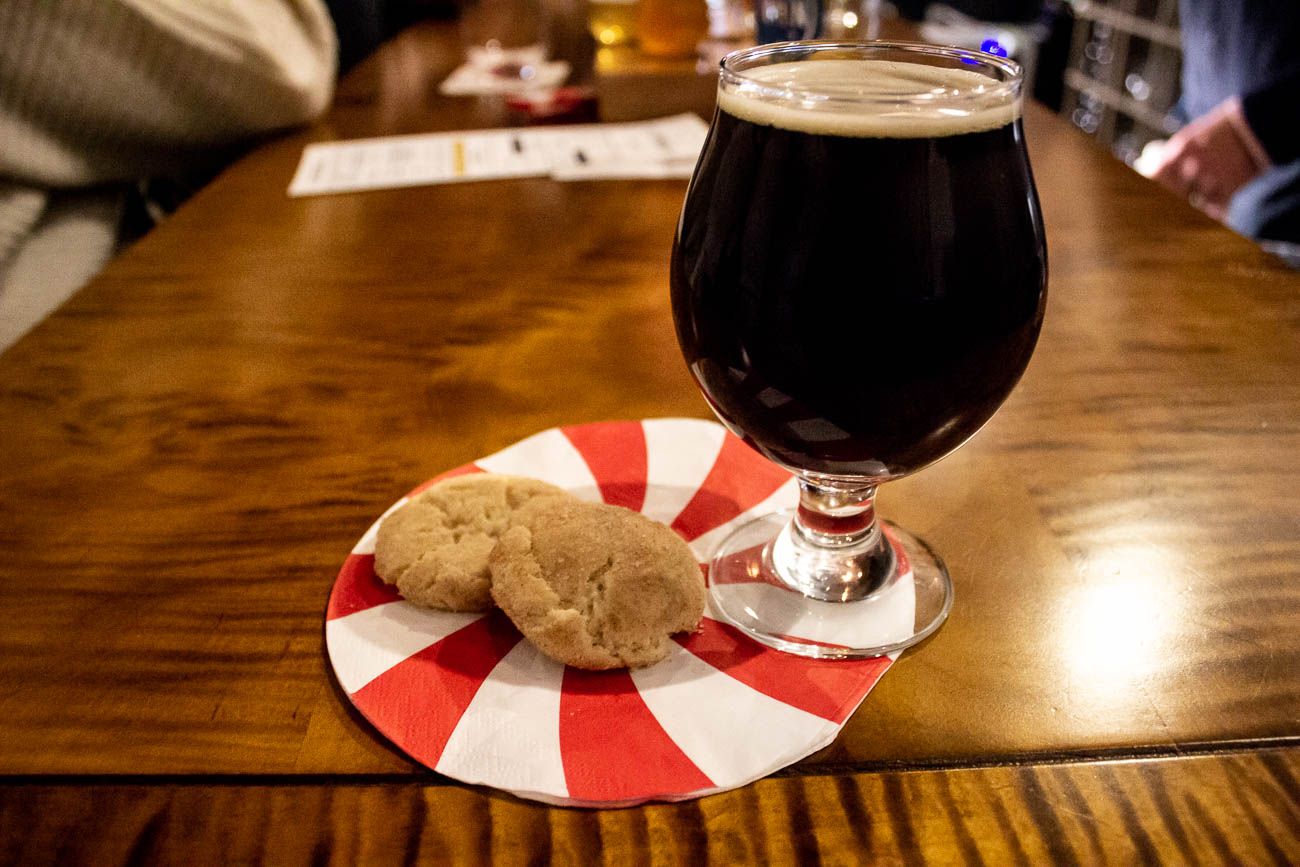 Winter Ale paired with a snickerdoodle cookie{ }/ Image: Katie Robinson, Cincinnati Refined // Published: 1.4.19