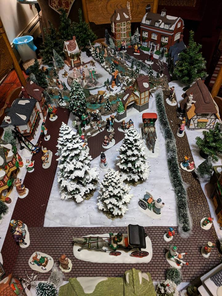 Dawn Jordan put together her village after Thanksgiving (Photo via Burst)