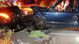 Crash aftermath photos show mangled wreckage of Macklemore's Mercedes