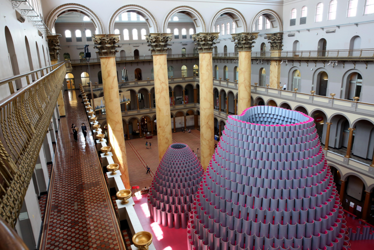 "See whatever cool exhibit is on display at the National Building Museum. The current exhibit ""Hive"" will be on display until September 4. TICKETS: $16 for adults and $13 for youth (3-17).  (Photo: Amanda Andrade-Rhoades/DC Refined)"