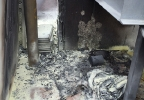 Fire damage inside a commercial building in Fond du Lac Friday, July 25, 2014. (Photo courtesy of Fond du Lac Fire Dept.)