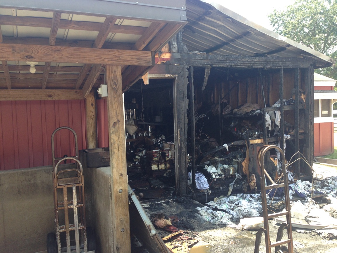 Buckner's, a Jackson restaurant that is a favorite among locals was damaged early Thursday morning in a fire / Perry Smith (WGXA)