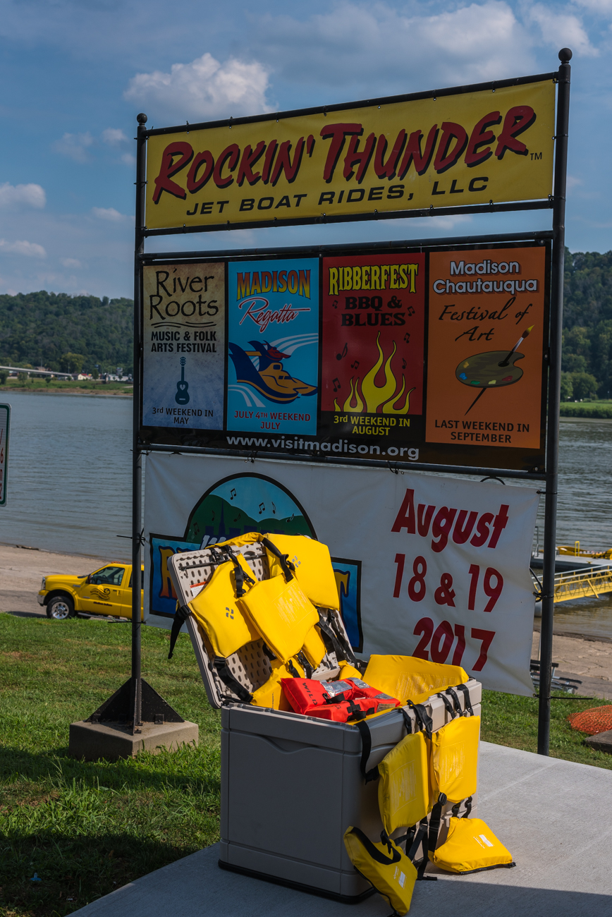 Rockin' Thunder Jet Boat rides are offered in the town of Madison, IN, which is only an hour and 15 minutes from Cincinnati. The rides range in price and distance, with the longest ride (a 2-day adventure that spans 155 miles) for $199, and the shortest ride (a 30-minute adventure that spans 15 miles) for $29. For more information, visit RockinThunder.com. / Image: Mike Menke // Published: 10.9.17