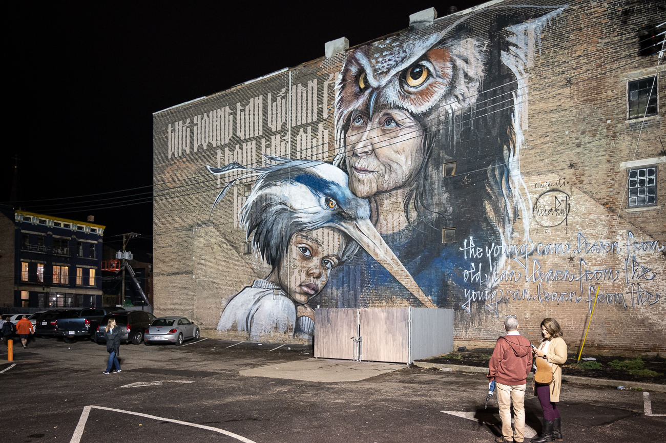 PICTURED NEIGHBORHOOD: Over-the-Rhine / Tons of new murals have sprung up over the last several days. / Image: Phil Armstrong // Published: 10.12.19