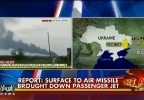 Thumbnail for plane shot down over Ukraine. (FOX News cut-in)