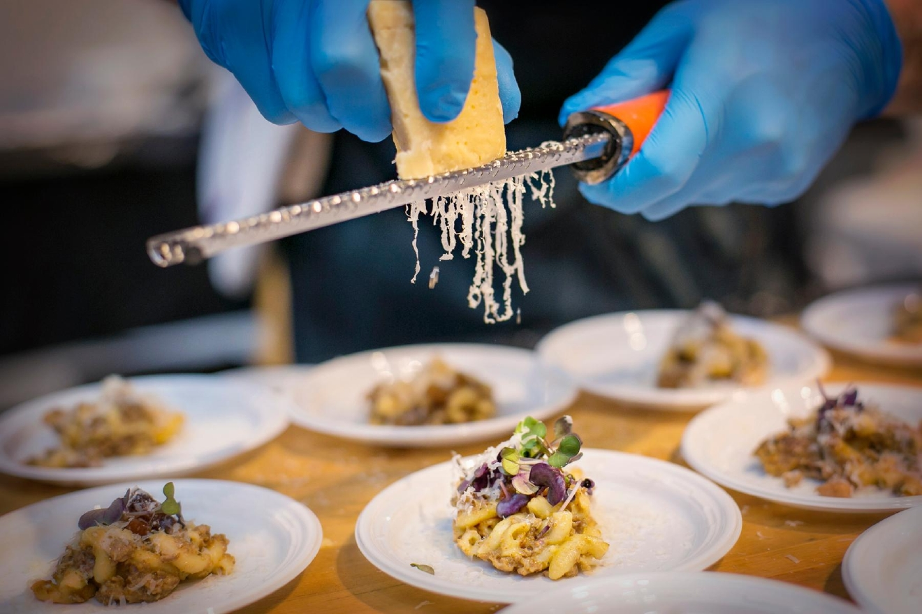 The 11th annual Art of Food took place at The Carnegie in Covington on Friday, Feb. 24, 2017. The event included bite-sized dishes from 20 chefs around the Tristate, visual displays of food-centric art, and one indescribable performance with a cast of colorful characters. / Image: Mike Bresnen Photography / Published: 2.25.17