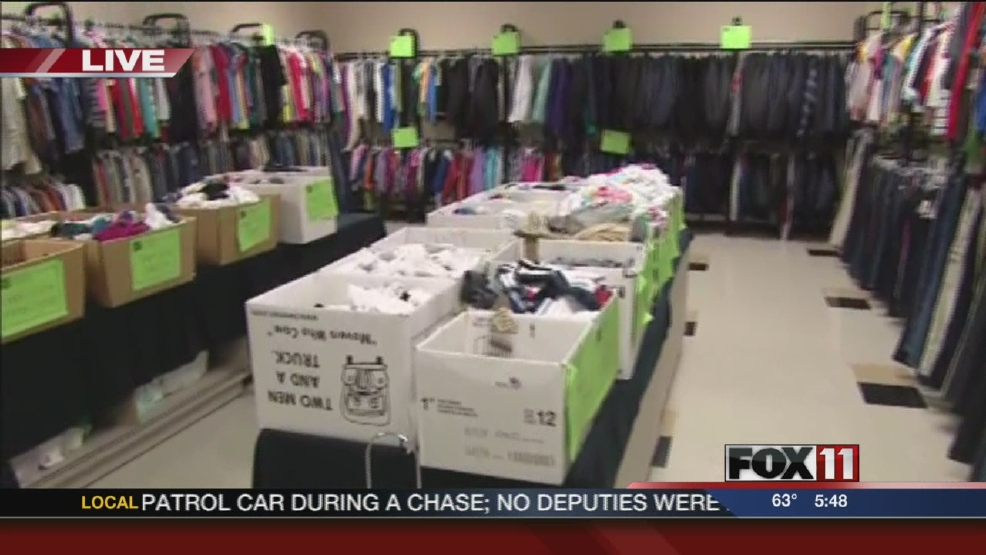 Cool for School program at Menasha Clothes Closet