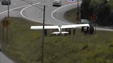 Small plane lands on I-40 in Nashville