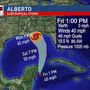Subtropical Storm Alberto headed into the Gulf
